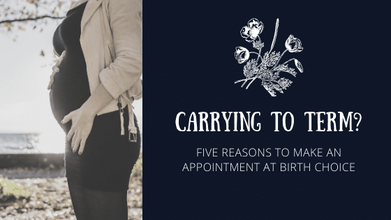 Carrying to Term? Five reasons to make an appointment at Birth Choice