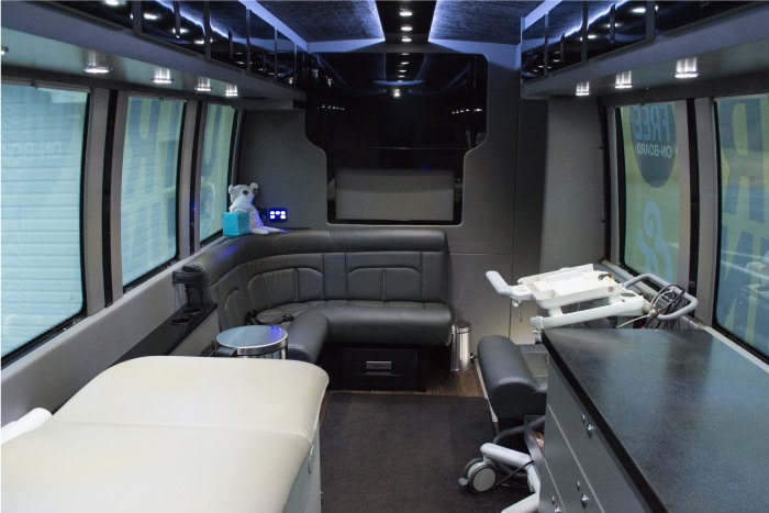 Mobile Clinic Bus Interior